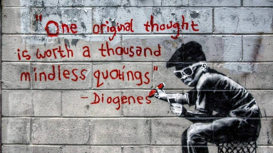 Liberal Arts Education and Change. Diogenes, Banksy or Blek Le Rat